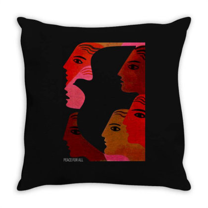 Peace For All Throw Pillow Designed By Lyly