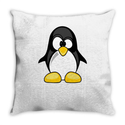 Penguin Animal Rights Funny Throw Pillow Designed By Lyly