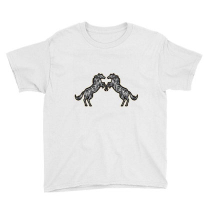 Couple Horse Youth Tee Designed By Chiks