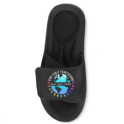 Save The Kids End Child Trafficking Slide Sandal Designed By Mrt90