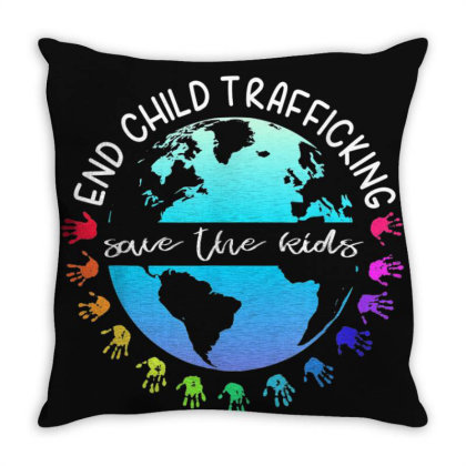 Save The Kids End Child Trafficking Throw Pillow Designed By Mrt90