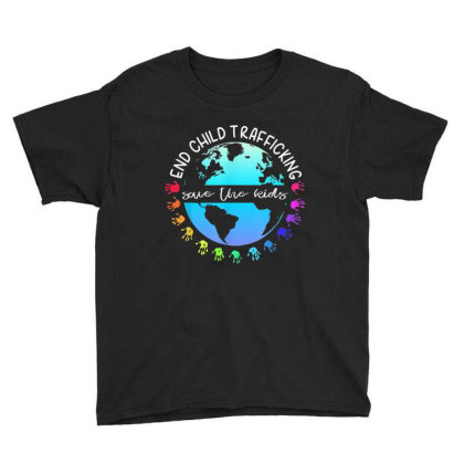 Save The Kids End Child Trafficking Youth Tee Designed By Mrt90