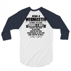 being a webmaster copy 3/4 Sleeve Shirt | Artistshot