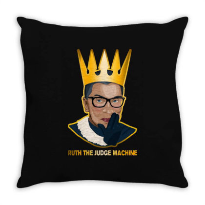 Ruth The Judge Machine Throw Pillow Designed By Akin