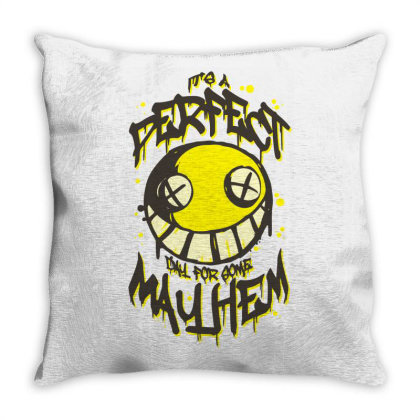 Perfect Day For Mayhem Throw Pillow Designed By Lyly