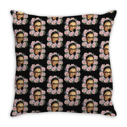 Ruth Bader Ginsburg Notorious Rbg Flower Throw Pillow Designed By Sengul