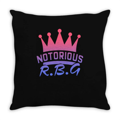 Notorious Rbg Throw Pillow Designed By Sengul