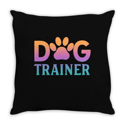 Dog Trainer Throw Pillow Designed By Sengul