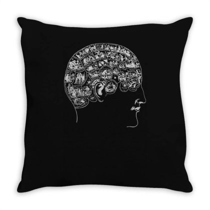 Phrenology(1) Throw Pillow Designed By Lyly