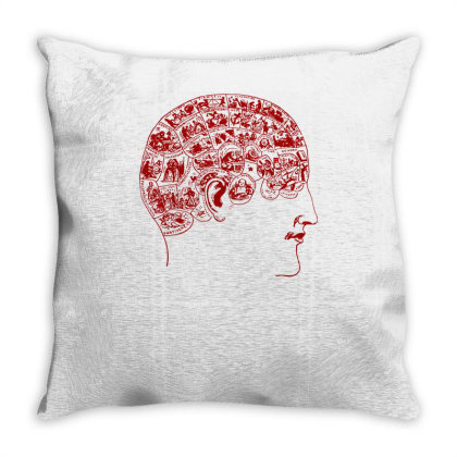 Phrenology(2) Throw Pillow Designed By Lyly
