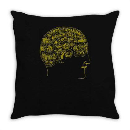 Phrenology(3) Throw Pillow Designed By Lyly