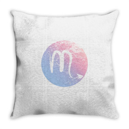 Scorpio Sign Throw Pillow Designed By Akin