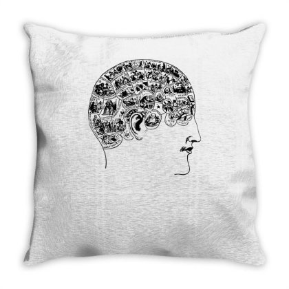 Phrenology Throw Pillow Designed By Lyly