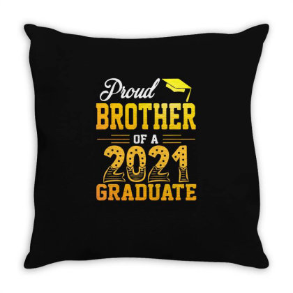 Proud Brother Of A 2021 Graduate For Dark Throw Pillow Designed By Sengul