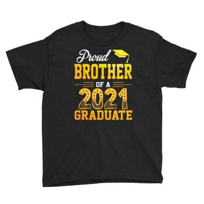Proud Brother Of A 2021 Graduate For Dark Youth Tee Designed By Sengul