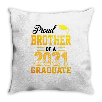 Proud Brother Of A 2021 Graduate For Light Throw Pillow Designed By Sengul