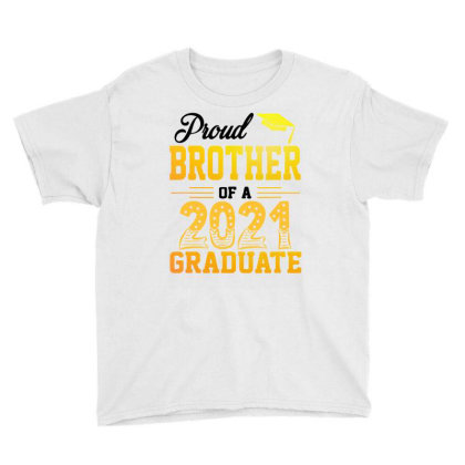 Proud Brother Of A 2021 Graduate For Light Youth Tee Designed By Sengul