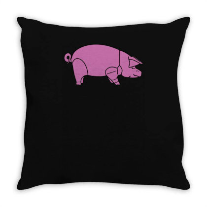Pig As Worn By Dave Gilmour Throw Pillow Designed By Lyly