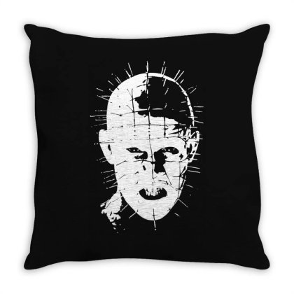 Pinhead   Hellraiser 80s Throw Pillow Designed By Lyly