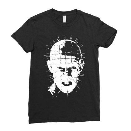 Pinhead   Hellraiser 80s Ladies Fitted T-shirt Designed By Lyly
