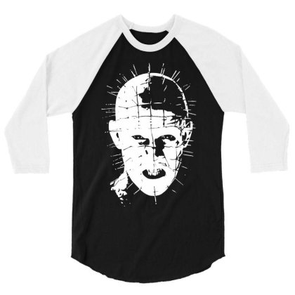 Pinhead   Hellraiser 80s 3/4 Sleeve Shirt Designed By Lyly