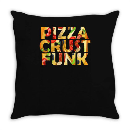 Pizza Crust Punk Peppperoni Funny Throw Pillow Designed By Lyly