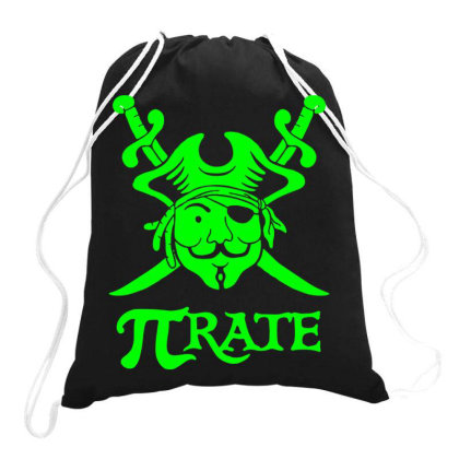 Pi Rate 5 Drawstring Bags Designed By Lyly