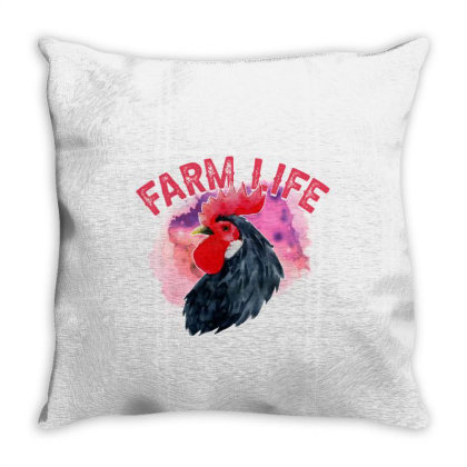 Watercolor Farm Life Throw Pillow Designed By Sengul