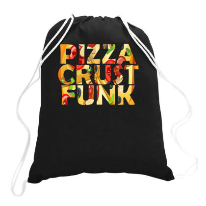 Pizza Crust Punk Peppperoni Funny Drawstring Bags Designed By Lyly