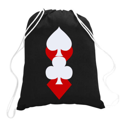 Playing Card Suits(1) Drawstring Bags Designed By Lyly