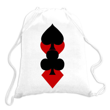 Playing Card Suits Drawstring Bags Designed By Lyly