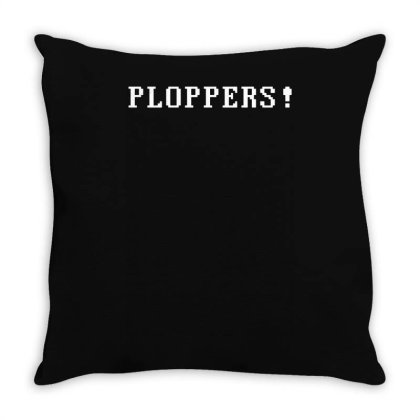 Ploppers ! Throw Pillow Designed By Lyly