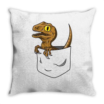 Pocket Raptor Throw Pillow Designed By Lyly