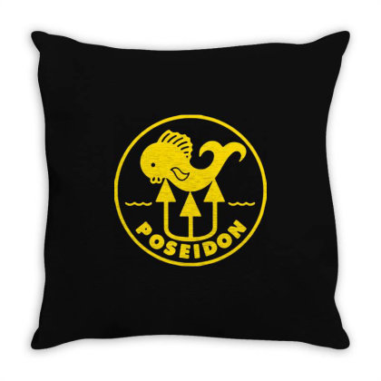 Poseidon Throw Pillow Designed By Lyly