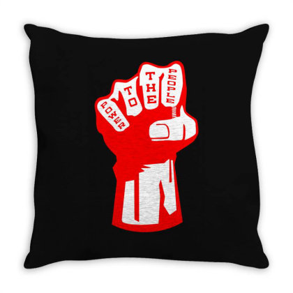 Power To The People(2) Throw Pillow Designed By Lyly