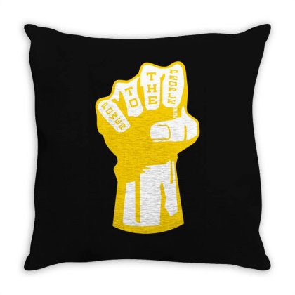 Power To The People(3) Throw Pillow Designed By Lyly