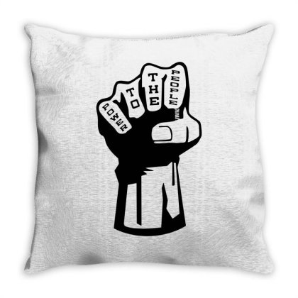 Power To The People Throw Pillow Designed By Lyly