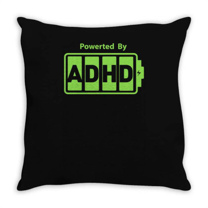 Powered Adhd Throw Pillow Designed By Lyly