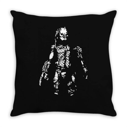 Predator Film Inspired Alien Awesome Funny Throw Pillow Designed By Lyly