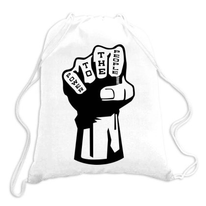 Power To The People Drawstring Bags Designed By Lyly
