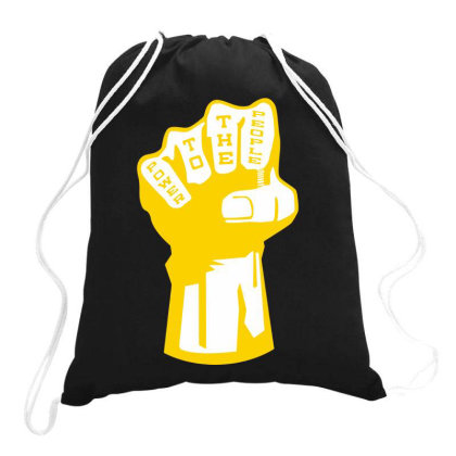 Power To The People(3) Drawstring Bags Designed By Lyly