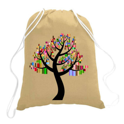 Floral Tree Drawstring Bags Designed By Chiks