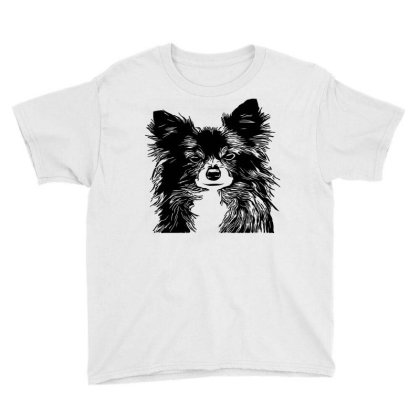 Hand Drawing Of Dog Youth Tee Designed By Chiks
