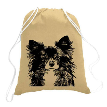 Hand Drawing Of Dog Drawstring Bags Designed By Chiks