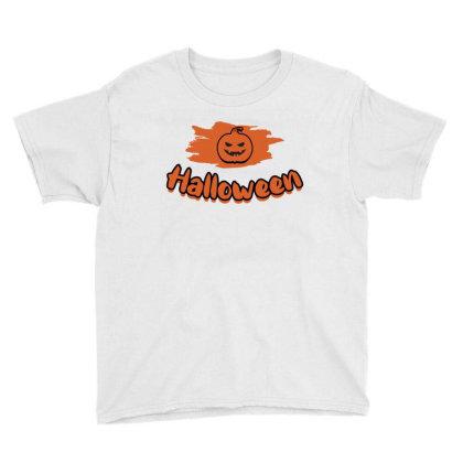 Pumpkin Hallowen Youth Tee Designed By Ashlıcar