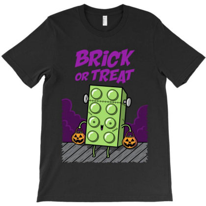 Brick Or Treat! T-shirt Designed By Raffiti