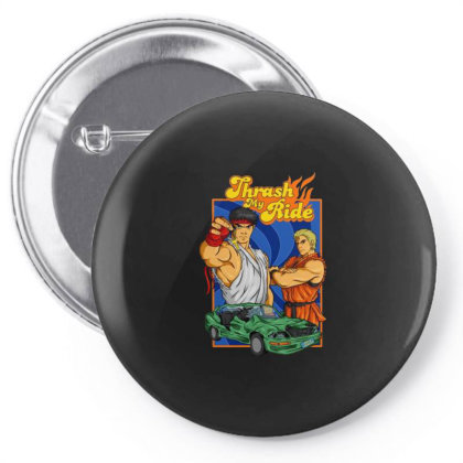 Thrash My Ride Vintage Pin-back Button Designed By Bannon