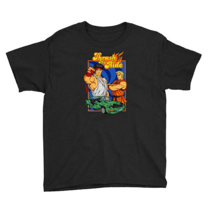 Thrash My Ride Vintage Youth Tee Designed By Bannon