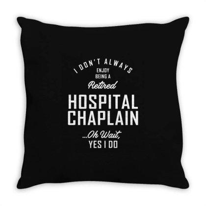 Hospital Chaplain Shirt Job Title Gift Throw Pillow Designed By Cidolopez