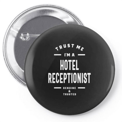 Hotel Receptionist Shirt Job Title Gift Pin-back Button Designed By Cidolopez